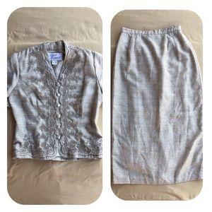 Sarah Elizabeth Skirt Suit Size Petite 6